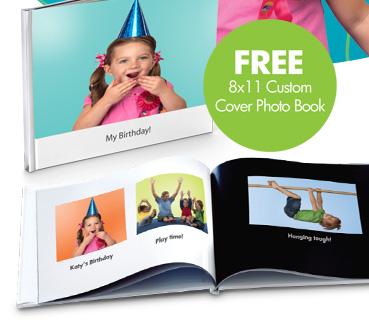 FREE 8x11 Custom Cover Photo Book