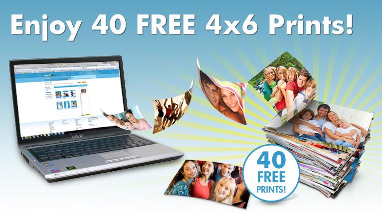 Enjoy 40 Free 4x6 Prints